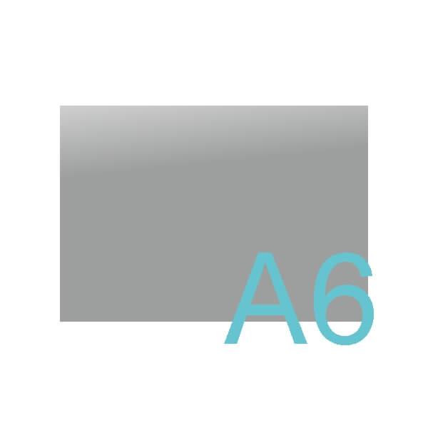 A6 - 148 x 105 mm.